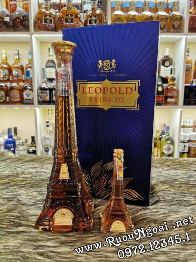 Rượu Hộp Quà Brandy Leopold XO 700ml