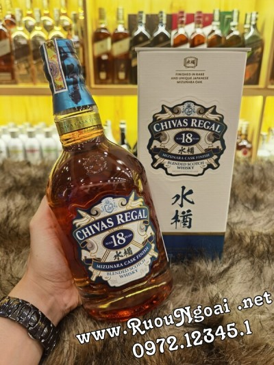 Rượu Chivas 18 Năm Mizunara Nhật