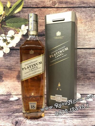 Rượu Johnnie Walker Platinum Label 18YO