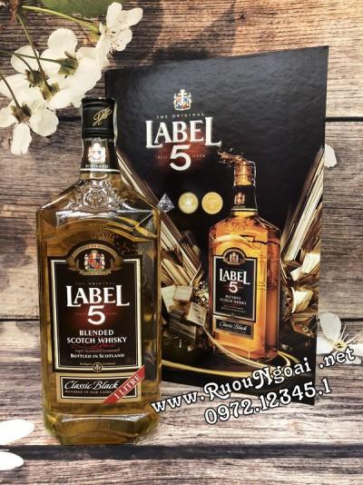 Rượu Label 5 Classic - Hộp Quà