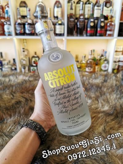 Rượu Vodka Absolut Citron