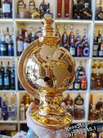 Rượu Janneau XO Globe Gold 24 Carat