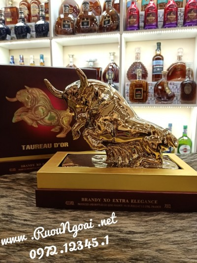 Rượu Taureau D'or Brrandy XO Extra Elegance - Trâu Gold
