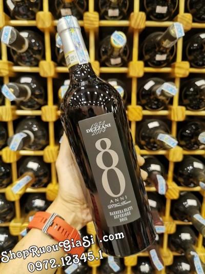 Rượu vang Dezzani 80 Anni Barbera