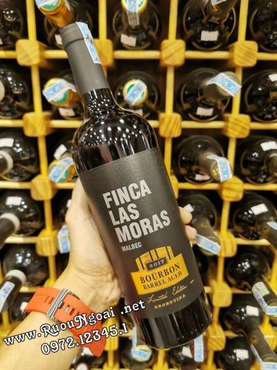 Rượu Vang Finca Las Moras RVA Malbec Bourbon