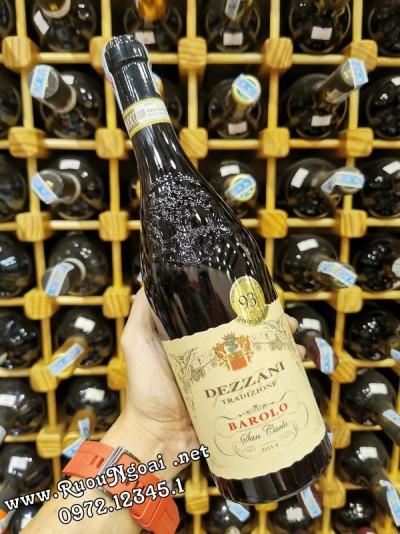 Rượu vang Dezzani Barolo