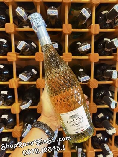 Rượu Vang Sparkling Celebration Calvet Brut